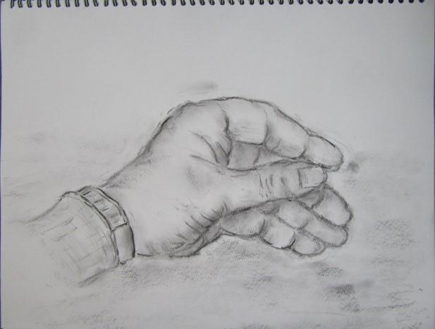 自身の手首スケッチ