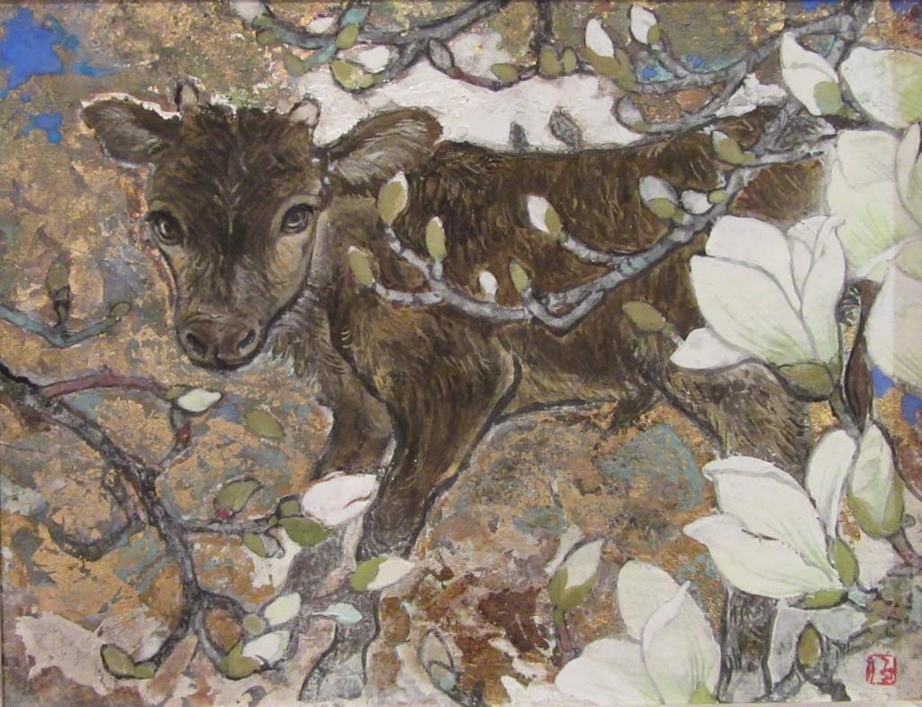 木蓮と牛ー2