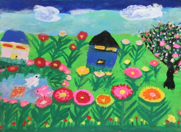 茅野清子「赤いバラの花」