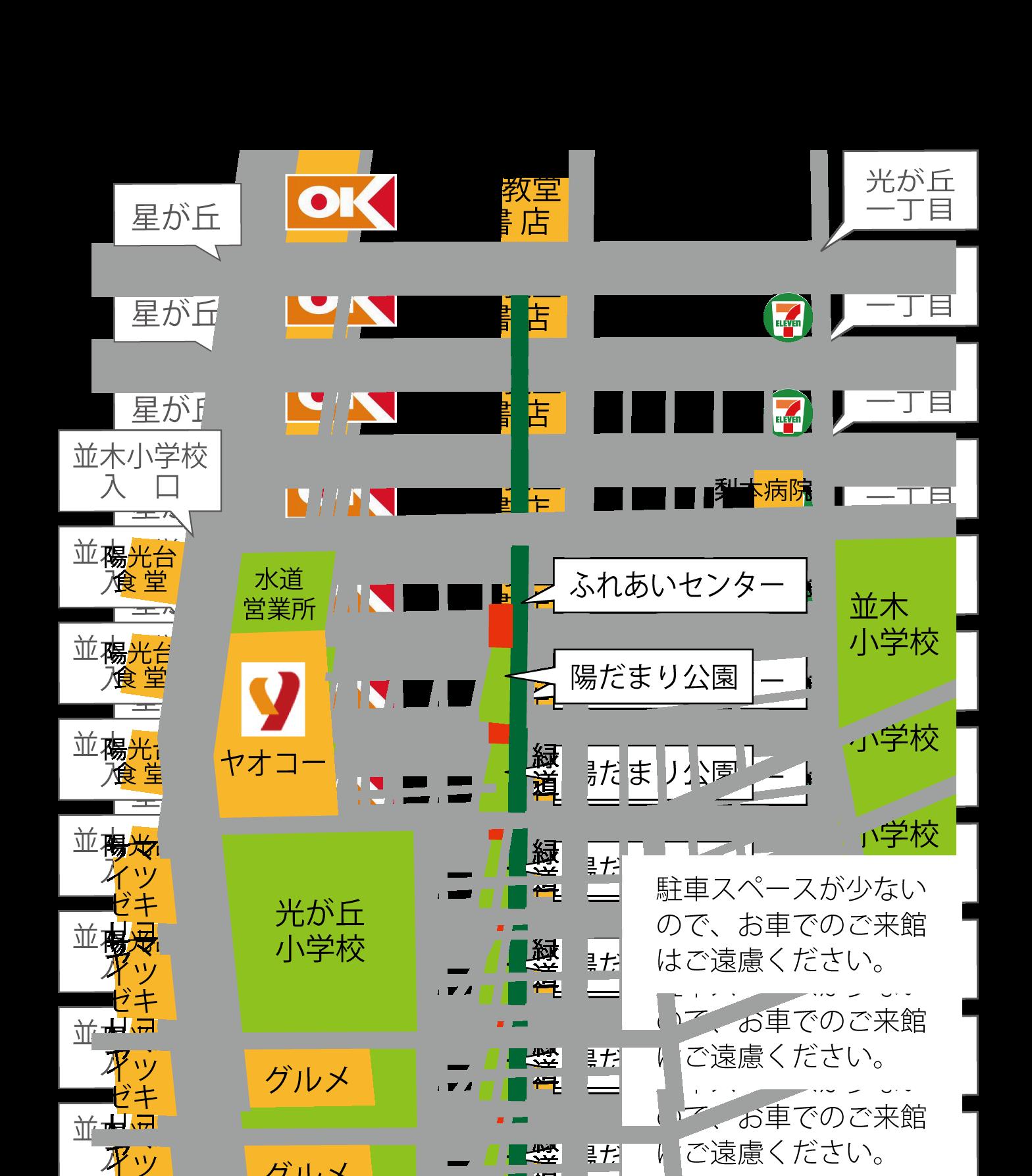 ふれセン地図
