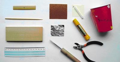 竹とんぼ、道具と材料